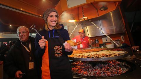 Andrea Petkovic grillt