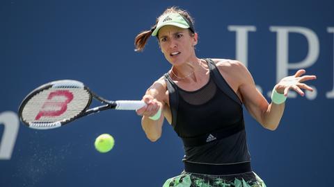 Bei Andrea Petkovic lief in der dritten Runde der US Open nicht mehr viel zusammen.