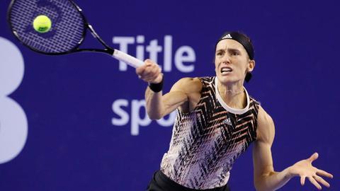 Andrea Petkovic im Spiel gegen Jelena Ostapenko