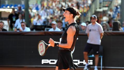 Andrea Petkovic freute sich über den Sieg in Rumänien.