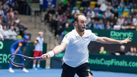 Tim Pütz beim Davis Cup in Frankfurt