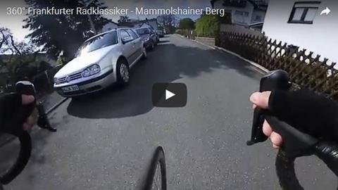 Ein Radfahrer am Mammolshainer Berg