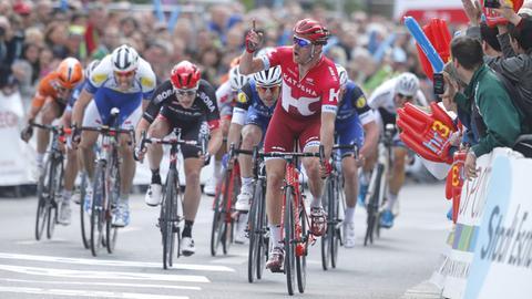 Zieleinlauf beim Radklassiker 2016