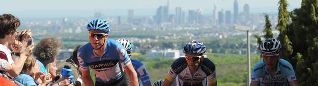 Radfahrer beim Radrennen am 1.Mai