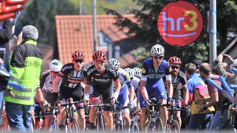 Szene aus dem Radrennen am 1.Mai