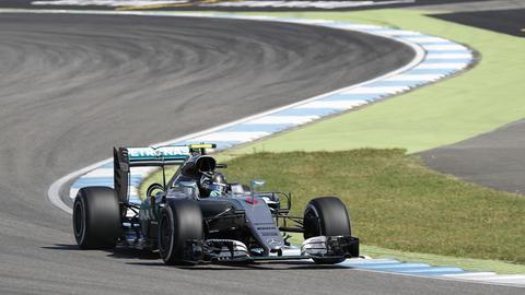 Nico Rosberg auf der Strecke in Hockenheim