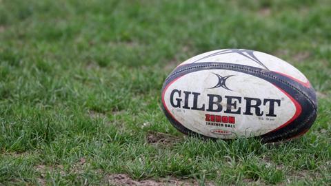 Ein Rugby-Ball.