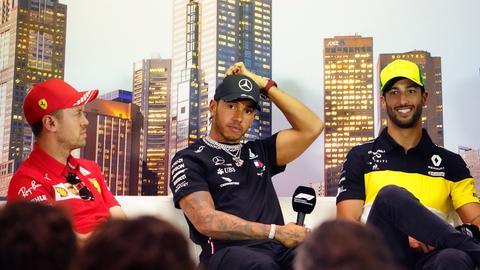 Vettel Hamilton Ricciardo