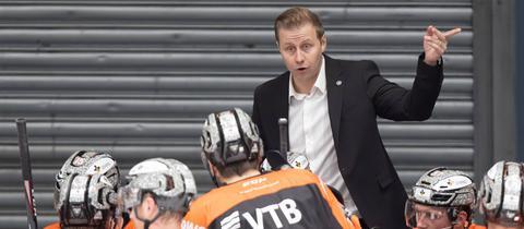 Ein Bild aus der Vergangenheit: Olli Salo als Head Coach der Löwen Frankfurt