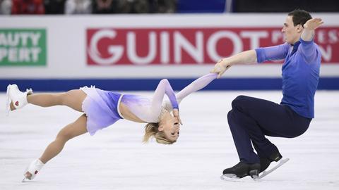 Savchenko und Masso beim Eiskunstlauf