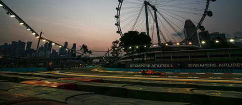 Tolle Kulisse imM Qualifying zum Singapur-Grand-Prix.