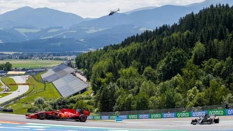 Sebastian Vettel fuhr in der Quali zum Rennen in Spielberg hinter der Spitze her.