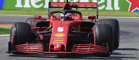 Sebastian Vettel und sein Ferrari können auch in Monza nicht mit der Spitze konkurrieren.