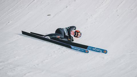 Stephan Leyhe bei seinem Sturz