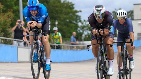 Das Radrennen beim großen Sporttag