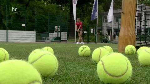 Andrea Petkovic beim Training in Bad Homburg