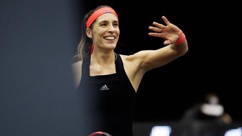 Andrea Petkovic lächelt