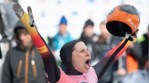 Tina Hermann, Skeleton-Weltmeisterin