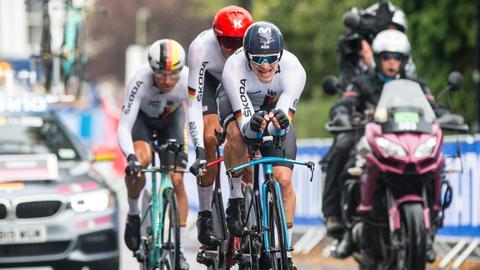Das Männer-Team bei der Rad-WM