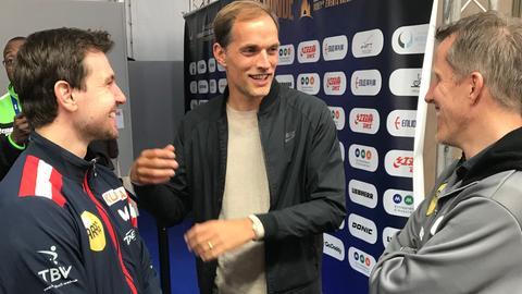 Thomas Tuchel gratuliert Timo Boll