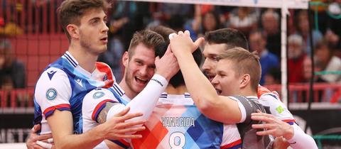 Spieler der United Volleys Frankfurt