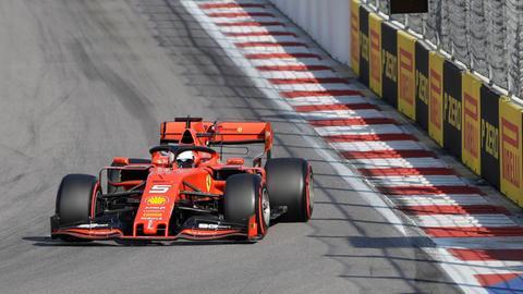 Sebastian Vettel wurde Dritter in der Qualifikation von Sotschi.