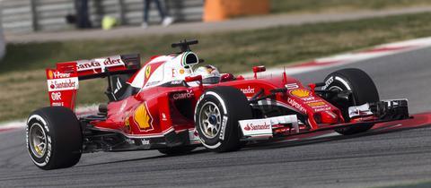 Sebastian Vettel in seinem neuen Ferrari