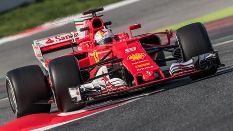 Sebastian Vettel bei seiner Testfahrt