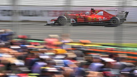 Sebastian Vettel bei der Quali in Melbourne