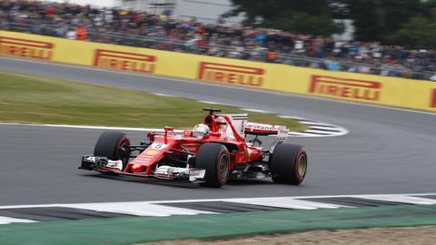 Sebastian Vettel auf der Strecke