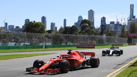Sebastian Vettel beim Freien Training in Melbourne.