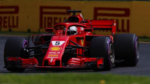 Ferrari-Pilot Sebastian Vettel im Qualifying von Melbourne.