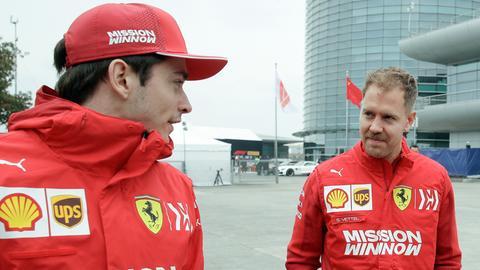 Herausforderer und Platzhirsch: Charles Leclerc (li.) und Sebastian Vettel.