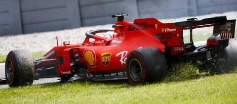 Sebastian Vettel im Gras