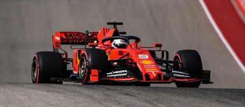 Sebastian Vettel auf der Strecke in Texas
