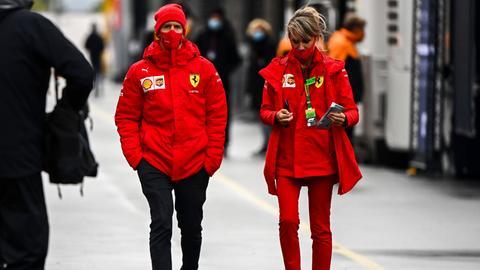 Sebastian Vettel von Ferrari