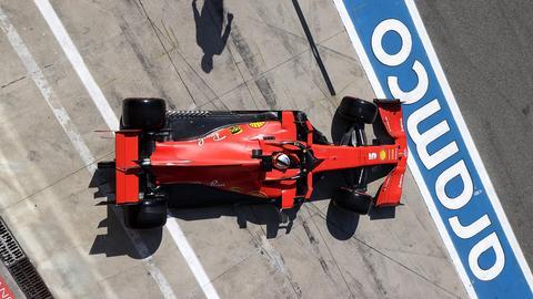 Der Ferrari von Vettel