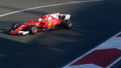 Vettel Baku dpa