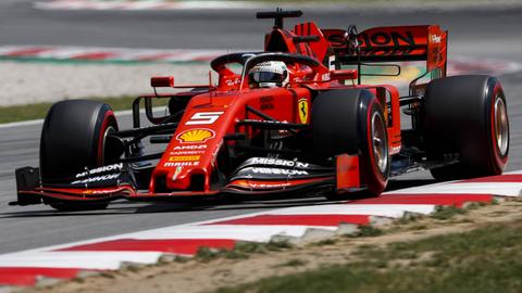 Sebastian Vettel beim Qualifying in Barcelona.