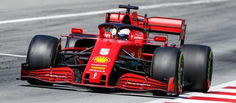 Sebastian Vettel beim Rennen in Barcelona
