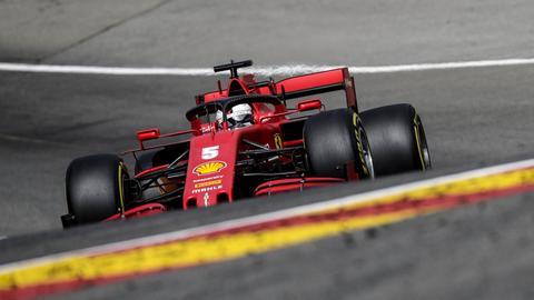 Sebastian Vettel auf der Strecke in Belgien