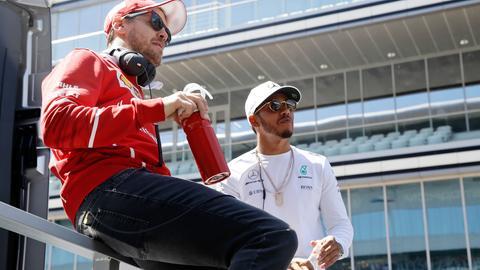 Sebastian Vettel und Lewis Hamilton