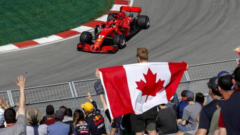 Sebastian Vettel will in seinem Ferrari die Hamilton-Dominanz in Kanada brechen.