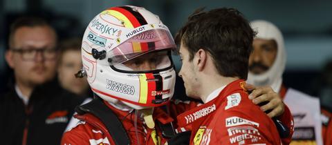 Sebastian Vettel und Charles Leclerc.