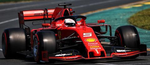 Sebastian Vettel während der Quali in Melbourne
