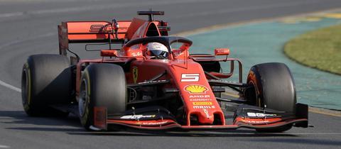 Sebastian Vettel beim Rennen in Melbourne