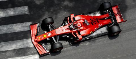 Sebastian Vettel in Monaco.
