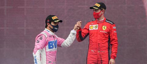 Sergio Perez und Sebastian Vettel