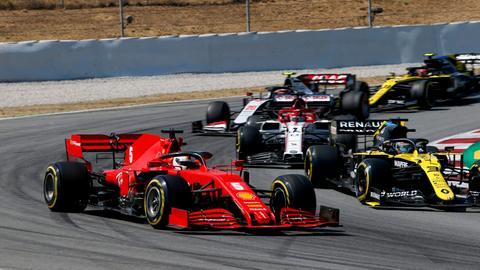 Sebastian Vettel im Ferrari beim GP von Spanien