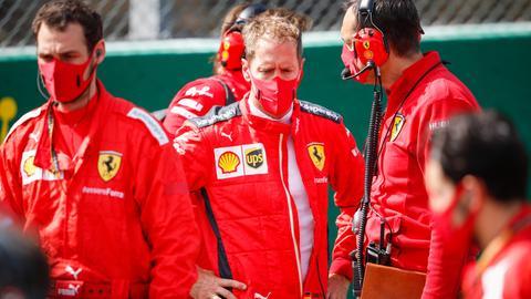 Sebastian Vettel an der Strecke in Spa